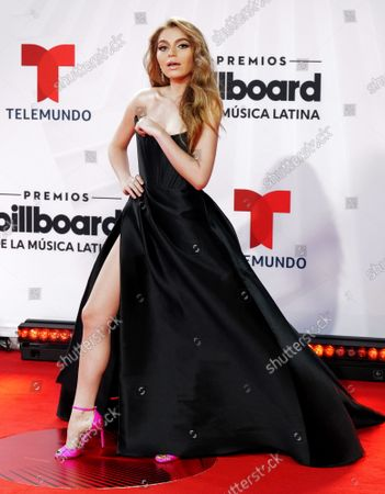 Sofia Castro walks the red carpet at the 2020 Latin Billboard  Music Awards at the BB&T center in Sunrise, Florida on Wednesday,  October 21, 2020.