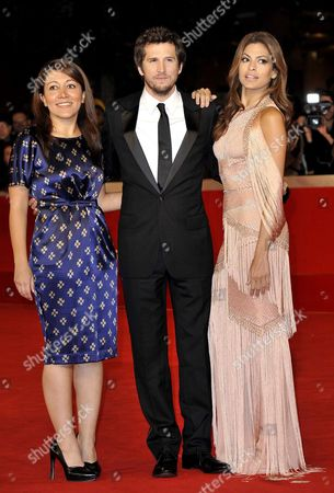 Massy Tadjedin, Guillaume Canet and Eva Mendes