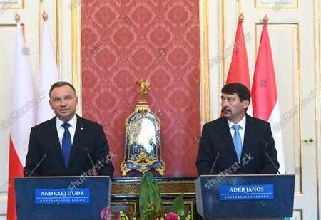 Editorial image of Polish President Duda in Hungary, Budapest - 09 Sep 2021