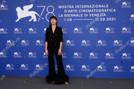 Agnieszka Grochowska poses for photographers at the photo call for the film 'Leave No Traces' during the 78th edition of the Venice Film Festival in Venice, Italy