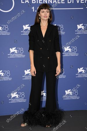 Agnieszka Grochowska poses at a photocall for 'Zeby Nie Bylo Sladow (Leave no traces)' during the 78th annual Venice International Film Festival, in Venice, Italy, 09 September 2021. The movie is presented in the official competition 'Venezia 78' at the festival running from 01 to 11 September.