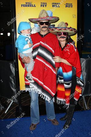 Stock Photo of Mary Lynn Rajskub, husband Matthew Rolph & son Valentine Anthony Rolph