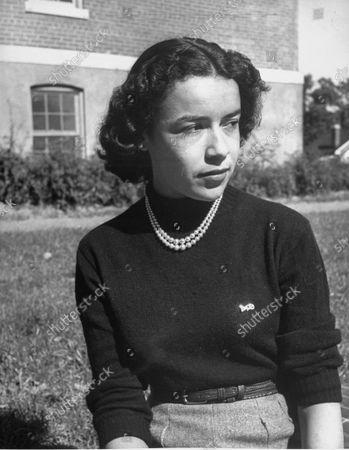 Stock Photo of Coed Patricia Shaw, an English major at Howard University.