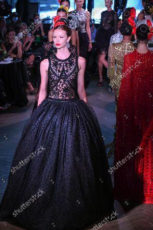 Editorial photo of Naeem Khan, Runway, Spring Summer 2022, New York Fashion Week, USA - 09 Sep 2021
