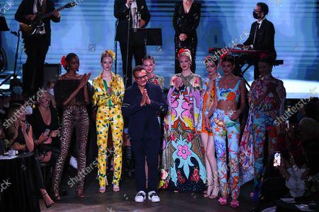 Editorial image of Naeem Khan, Runway, Spring Summer 2022, New York Fashion Week, USA - 09 Sep 2021
