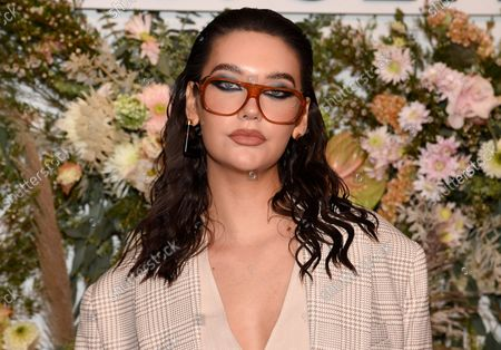 Amanda Steele attends the Revolve Gallery New York Fashion Week event at Hudson Yards, in New York