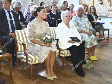 Crown Princess Victoria and Princess Christina, Mrs Magnuson at SWEA International's Swedish Woman of the Year Award ceremony held at Millesgarden in Stockholm, Sweden, on September 09, 2021.