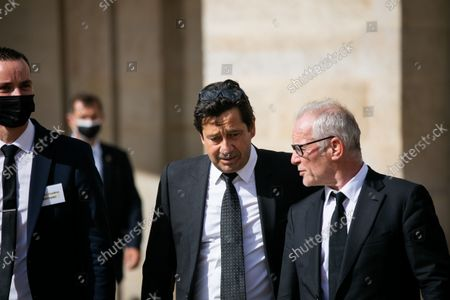 Laurent Gerra and Thierry Fremaux  The national tribute ceremony for late French actor Jean-Paul Belmondo at the Hotel des Invalides monument in Paris,