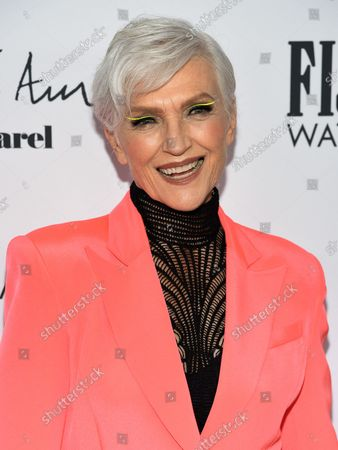 Model Maye Musk attends the Daily Front Row Fashion Media Awards at the Rainbow Room, Rockefeller Center,, in New York