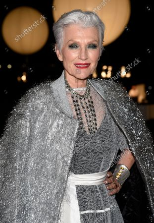 Maye Musk attends the Prabal Gurung spring/summer 2022 fashion show at 20 Battery Place during New York Fashion Week on
