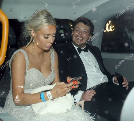 """Stock Image of Demi Sims and James """"Diags"""" Bennewith at Bagatelle for an NTA party"""