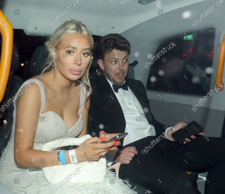 """Demi Sims and James """"Diags"""" Bennewith at Bagatelle for an NTA party"""