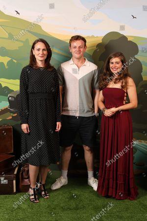 Stock Photo of (Mrs Hall) Anna Madeley, (Tristan Farnon) Callum Woodhouse and (Helen Alderson) Rachel Shenton