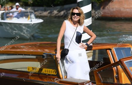 Stefania Rocca arrives at the Lido Beach for the 78th annual Venice International Film Festival, in Venice, Italy, 10 September 2021. The festival runs from 01 to 11 September 2021.