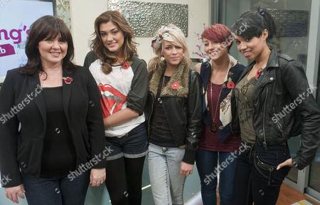 Coleen Nolan and Belle Amie - Esther Campbell, Geneva Lane, Rebecca Creighton and Sophia Wardman
