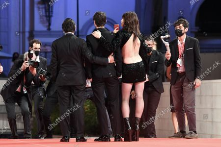 The director Yvan Attal with wife Charlotte Gainsbourg and son Ben Attal during the Red carpet