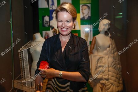 Queen Mathilde of Belgium visits the ModeMuseum in Antwerpen, Belgium, 10 September 2021. The Museum was founded on 21 September 2002 and was recently renovated and reopened its doors on 04 September. It collects, preserves, studies and exhibits Belgian fashion such as Belgian fashion Designer Dries Van Noten.