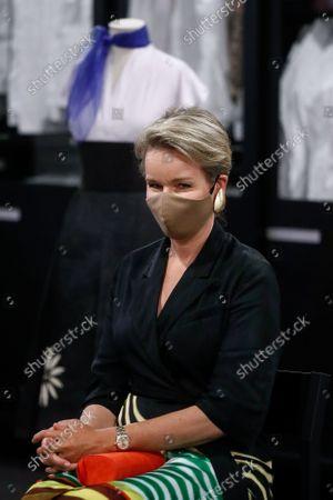 Editorial photo of Queen Mathilde of Belgium visits the ModeMuseum in Antwerpen - 10 Sep 2021