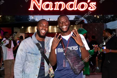 Mo Gilligan and Harry Pinero were spotted enjoying a #NandosRider of PERi-PERi chicken backstage at Wireless Festival, London, 12th Sept 2021