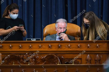 House Ways and Means Committee Chairman Richard Neal, D-Mass., pauses as his panel meets for a markup hearing to craft the Democrats' Build Back Better Act, massive legislation that is a cornerstone of President Joe Biden's domestic agenda, at the Capitol in Washington