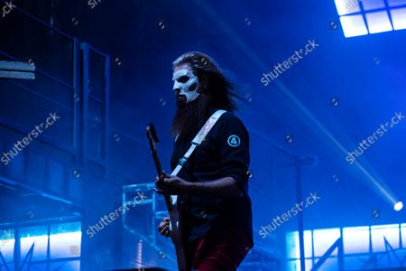 Stock Photo of Jim Root of Slipknot performs at Inkcarceration Music and Tattoo Festival, at Ohio State Reformatory in Mansfield, Ohio