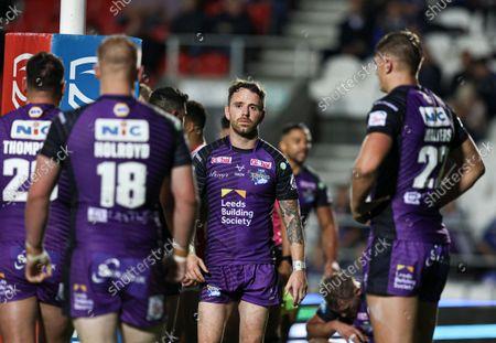 Leeds Rhinos' Richie Myler looks dejected