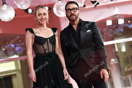 Jeremy Piven, Lee Levi during 'The Last Duel' red carpet, the 78th annual Venice International Film Festival, in Venice, Italy, 10 September 2021.