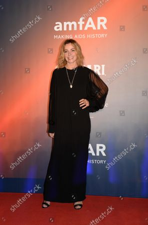 Stefania Rocca poses on the red carpet at the amfAR gala in historical Arsenale in the frame of the 78th annual Venice International Film Festival, in Venice, Italy, 10 September 2021. The outdoor event is to benefit amfAR, The Foundation for AIDS Research. The 78th Venice Film Festival runs from 01 to 11 September 2021.