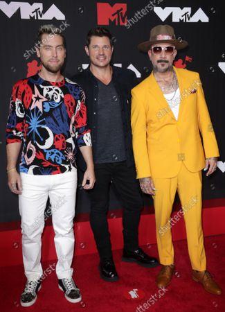 Lance Bass, Nick Lachey and AJ McLean