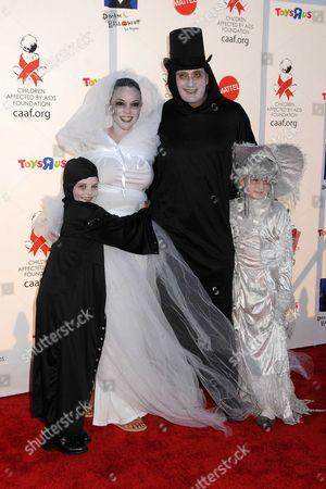 Eva LaRue, daughter Kaya Mckenna Callahan (L), Joe Cappuccio and guest