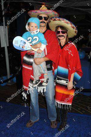 Stock Picture of Mary Lynn Rajskub (r), husband Matthew Rolph and son Valentine
