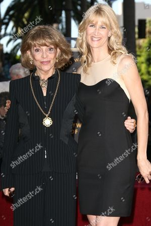 Veronique Peck and Laura Dern