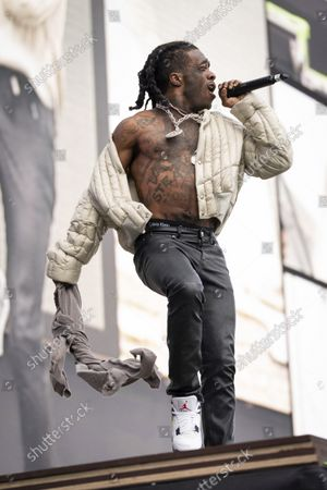 Lil Uzi Vert performs at the Wireless Music Festival, Crystal Palace Park, London, England