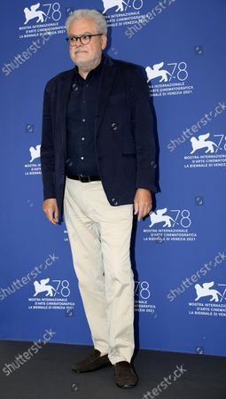 Stock Picture of Roberto Ando poses at a photocall for 'Il Bambino nascosto' during the 78th annual Venice International Film Festival, in Venice, Italy, 11 September 2021. The movie is presented out of competition at the festival that is running from 01 to 11 September.