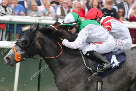 Desert Angel and Hollie Doyle win the Vertem Nursery Handicap Trained by Richard Hannon Owned by Ziad A Galadari Doncaster Racecourse 11th September August 2021