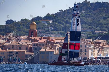 Great Britain SailGP Team helmed by Ben Ainslie in action on Race Day 1, France SailGP, Event 5, Season 2 in Saint-Tropez, France. 11 September 2021.