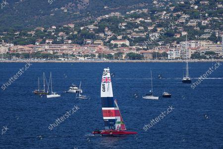 Great Britain SailGP Team helmed by Ben Ainslie on Race Day 1, France SailGP, Event 5, Season 2 in Saint-Tropez, France. 11 September 2021.