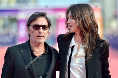Yvan Attal (L) and Charlotte Gainsbourg attend the closing of the 47th Deauville American Film Festival 2021, in Deauville, France, 11 September 2021. The film festival that presented 53 movies in eight categories is running from 03 to 12 September 2021.