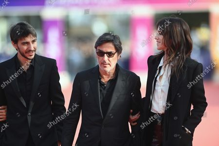 Ben Attal, Yvan Attal and Charlotte Gainsbourg attend the closing of the 47th Deauville American Film Festival 2021, in Deauville, France, 11 September 2021. The film festival that presented 53 movies in eight categories is running from 03 to 12 September 2021.
