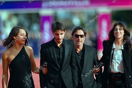 Suzanne Jouannet, Ben Attal, Yvan Attal and Charlotte Gainsbourg attend the closing of the 47th Deauville American Film Festival 2021, in Deauville, France, 11 September 2021. The film festival that presented 53 movies in eight categories is running from 03 to 12 September 2021.