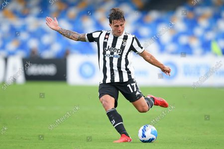 Luca Pellegrini of FC Juventus during the Serie A match between SSC Napoli and FC Juventus at Stadio Diego Armando Maradona, Napoli, Italy on 11 September 2021.