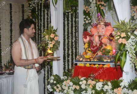 Editorial image of Bollywood Actors Celebrate Ganesh Chaturthi Festival, Mumbai, Maharashtra, India - 10 Sep 2021