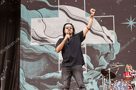 Leigh Kakaty of Pop Evil performs at Inkcarceration Music and Tattoo Festival, at Ohio State Reformatory in Mansfield, Ohio