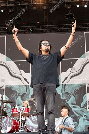 Stock Picture of Leigh Kakaty of Pop Evil performs at Inkcarceration Music and Tattoo Festival, at Ohio State Reformatory in Mansfield, Ohio