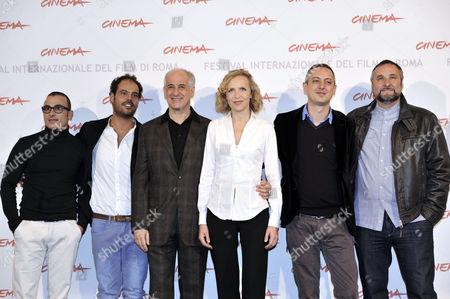 Stock Picture of Francesco Di Leva, Marco D'Amore, Toni Servillo, Juliane Kohler, Director Claudio Cupellini, Maurizio Donadoni