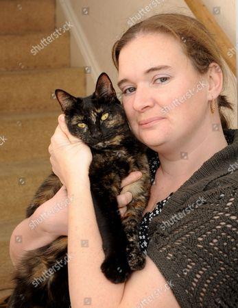 Carol White with Lana the cat