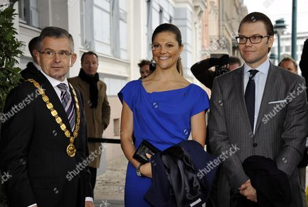 Stock Image of Jussi Pajunen, Mayor of Helsinki, Crown Princess Victoria of Sweden and Prince Daniel