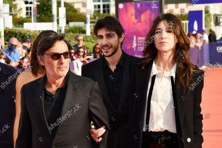 Ben Attal, Yvan Attal and Charlotte Gainsbourg