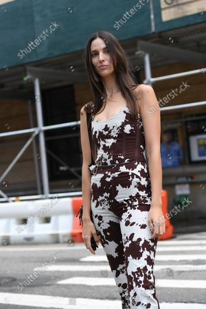 Editorial photo of Street Style, Spring Summer 2022, New York Fashion Week, USA - 11 Sep 2021