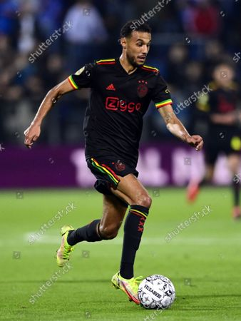 Noussair Mazraoui of Ajax during the Dutch Eredivisie match between PEC Zwolle and Ajax at MAC3Park stadium on September 11, 2021 in Zwolle, Netherlands.